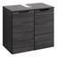 Waschtischunterschrank Belluno B:60 cm Lärche Dekor - Lärchefarben/Graphitfarben, Basics, Holzwerkstoff (60/54/35cm)