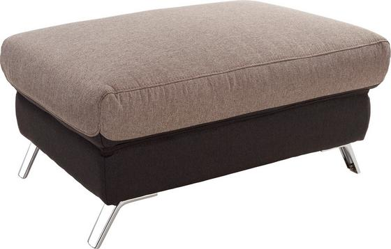 Hocker Upgrade - Chromfarben/Anthrazit, MODERN, Textil (98/46/67cm)