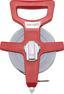 Rollmaßband mit Glasfaserband - Rot/Grau, KONVENTIONELL, Kunststoff (3000cm)