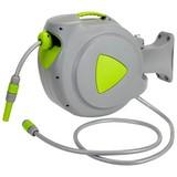 Schlauchaufroller Aiden - Grau/Grün, Kunststoff/Metall (56/40/23cm) - Homezone