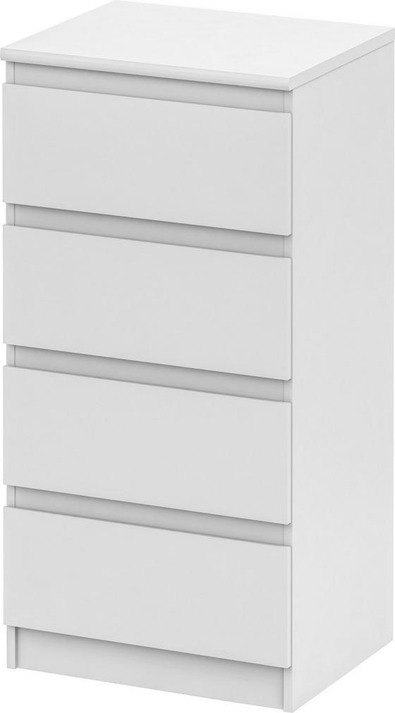 Komoda Smart 1 New - biela, Moderný, kompozitné drevo (55/110/45cm)