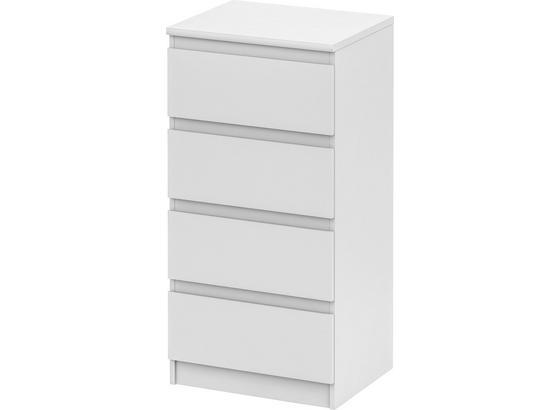Komoda Smart 1 New - bílá, Moderní, kompozitní dřevo (55/110/45cm)