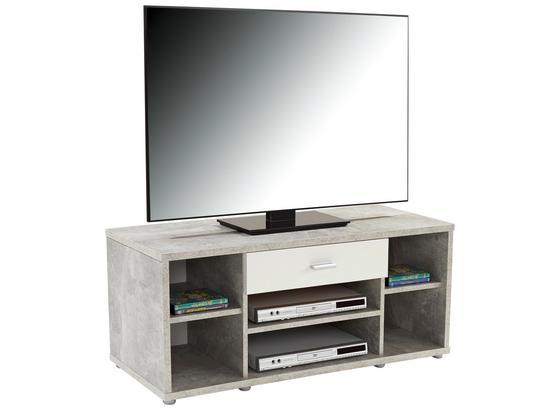 Tv Stolík Ralf Zd41 - sivá/biela, Moderný, kompozitné drevo (113/45,2/40cm)