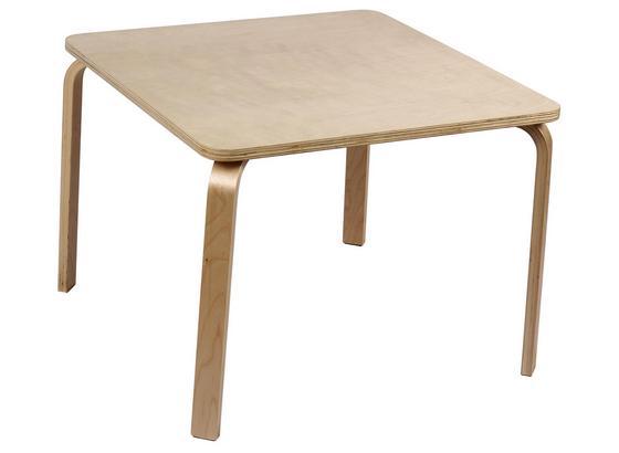 Detský Stôl Smile - prírodné farby, kompozitné drevo (60/45/60cm)