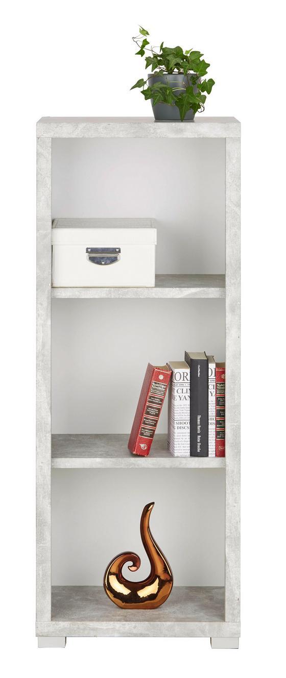 Regál Line4 - bílá/šedá, Moderní, kompozitní dřevo (44/112/36cm)
