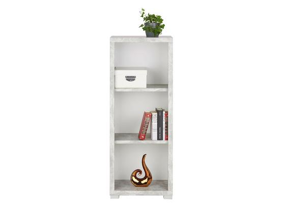 Regál Line4 - sivá/biela, Moderný, kompozitné drevo (44/112/36cm)