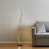 Stojací Lampa Zara S Led - barvy stříbra, Moderní, kov (21/145/21cm) - Modern Living