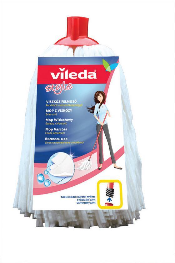 Style Viszkóz Felmosó Fej Vileda - Fehér, konvencionális, Textil