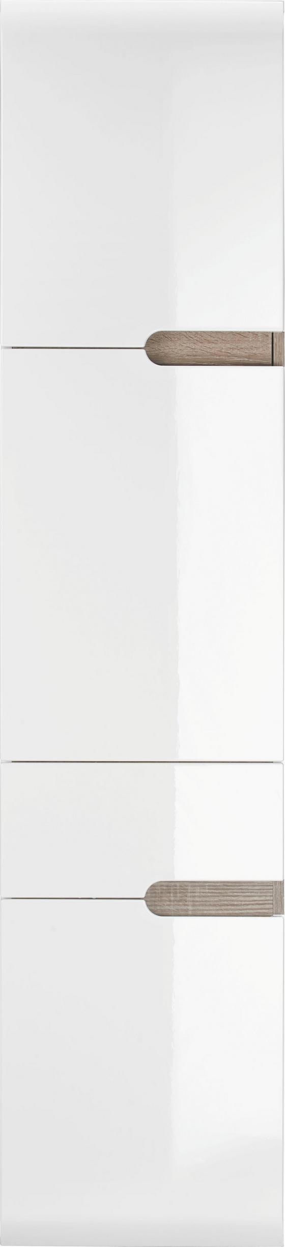 Vysoká Skříň Linate Links - Moderní, dřevěný materiál (40/176/31cm)
