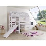 Spielbett Eliyas 90x200 cm Buche Massiv - Weiß, Design, Holz (90/200cm)