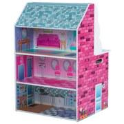Puppenhaus & Spielküche Plum 2-In-1 - Pink/Multicolor, Basics, Holzwerkstoff (47/40/66cm)