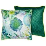 Zierkissen-doubleface Viridi - Multicolor/Grün, MODERN, Textil (48/48cm)