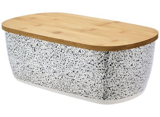 Brotdose Bamboo - Schwarz/Naturfarben, MODERN, Holz/Kunststoff (36/13.5/20.5cm) - James Wood