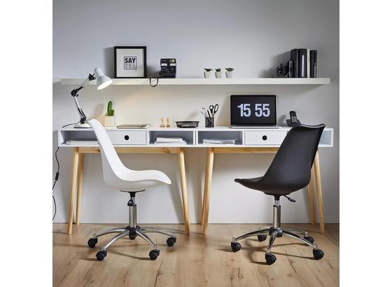 Otočná Stolička Nico - biela/chrómová, Moderný, umelá hmota/kov (58/80,5/64cm) - Modern Living