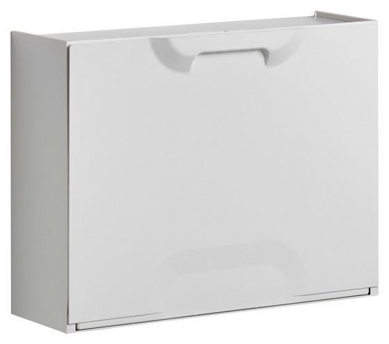 Schuhkipper Weiß - Weiß, MODERN, Kunststoff (51/40,1/17,3cm)