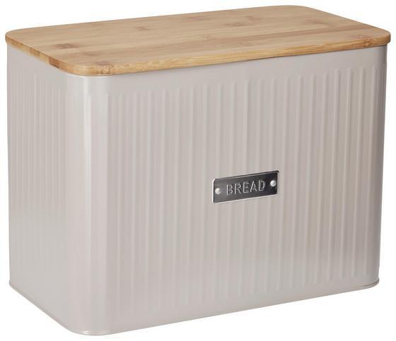 Box Na Chlieb Cosima - prírodné farby/sivá, Moderný, kov/drevo (33/18/24cm) - Zandiara
