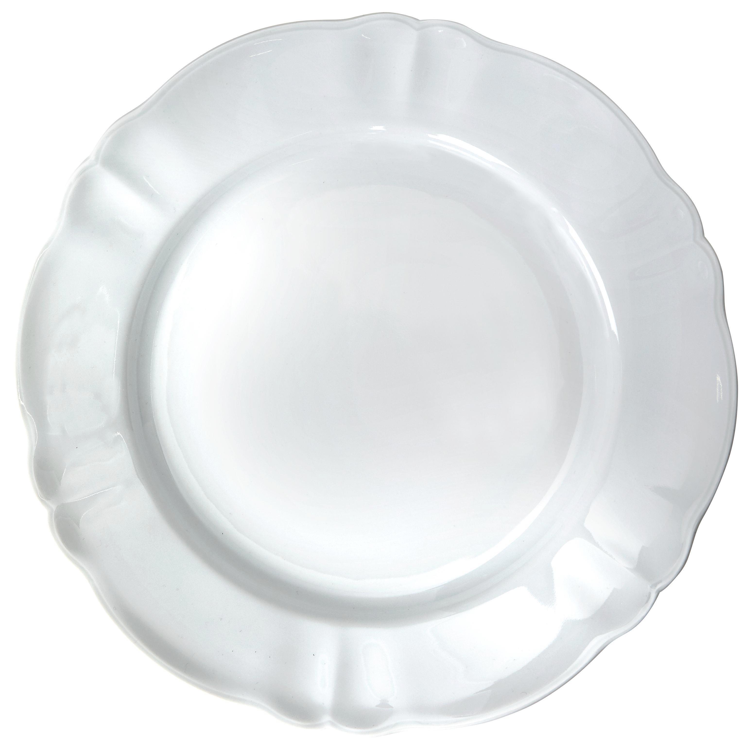 Lapostányér Jesko - fehér, konvencionális, kerámia (26cm) - OMBRA