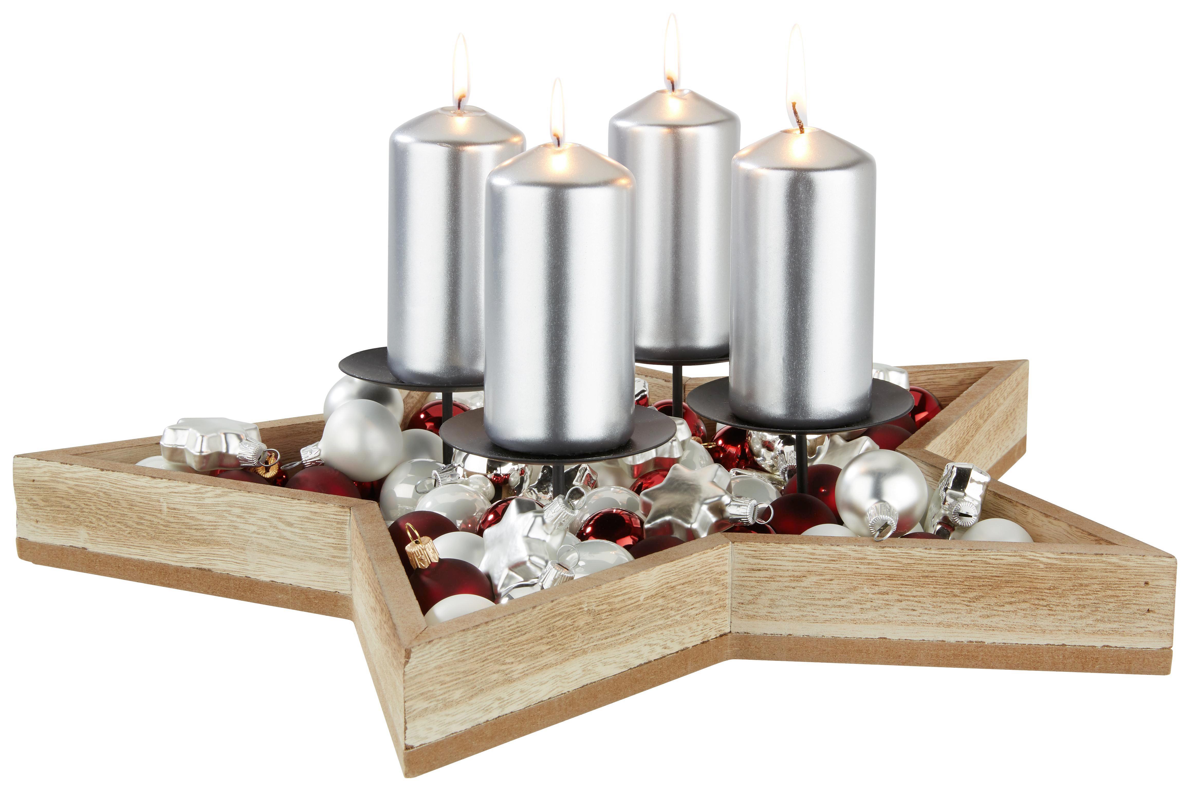 Miska Na Svíčky Jana - přírodní barvy, kov/dřevo (41/6,5cm) - MÖMAX modern living