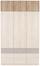 AUFSATZSCHRANK Aalen Extra, 136cm - Grau, KONVENTIONELL, Holzwerkstoff (136/39/54cm)