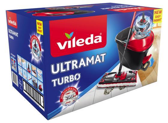Reinigungsset Vileda Ultramat Turbo Set - Rot/Schwarz, Kunststoff (49/30,6/29,8cm) - Vileda