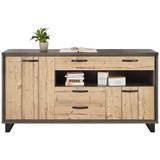 Komoda Sideboard Azara - barvy smrku/tmavě šedá, Lifestyle, kov/dřevěný materiál (184,2/93,7/41,5cm) - MODERN LIVING