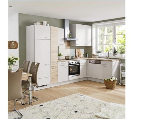 Rohová Kuchyň Santiago/riga - barvy dubu/světle šedá, Lifestyle, kompozitní dřevo (305cm) - Vertico