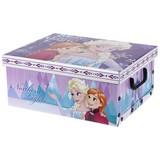 Aufbewahrungsbox Frozen - Blau/Rosa, Papier/Kunststoff (37/31/16cm) - Disney
