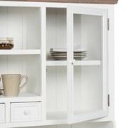 Kredenc Cookie - bílá/hnědá, kov/dřevo (132/191/40,5cm) - Premium Living