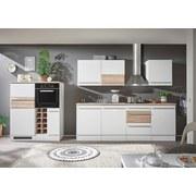 Küchenblock Welcome Big inkl. Blockelement 240cm Weiß - Weiß/Sonoma Eiche, MODERN, Holzwerkstoff (240/205/60cm)
