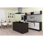 Einbauküche Premium B: 280 cm Weiß Hgl - Eichefarben/Weiß, MODERN, Holzwerkstoff (280/200/270cm) - MID.YOU