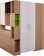 Sarokszekrény Box - Tölgyfa/Fehér, modern, Faalapú anyag (120/205/150cm)