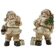 Weihnachtsmann Stephen - Goldfarben/Creme, KONVENTIONELL, Kunststoff (8/13/7,5cm) - Ombra