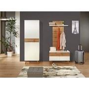 Šatní Lavice Rivoli - bílá/barvy dubu, Moderní, dřevěný materiál (85/50/35,5cm)