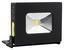 LED-Baustrahler Fcl-76001 - Schwarz, MODERN, Kunststoff (8/4/11cm)