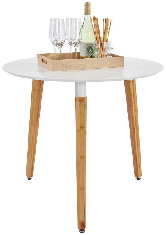 Esstisch Scandi Ø 80 cm Weiß - Braun/Weiß, MODERN, Holz/Holzwerkstoff (80/74cm) - Ombra