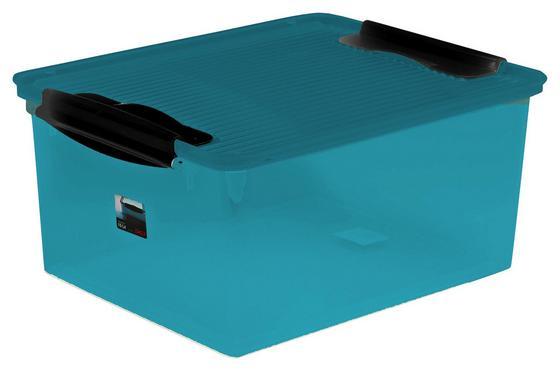 Box mit Deckel Capri Breeze ca. 15 L - Petrol, KONVENTIONELL, Kunststoff (38/29/17cm) - Plast 1