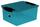 Box mit Deckel inkl. Deckel - Petrol, KONVENTIONELL, Kunststoff (38/29/17cm) - Plast 1