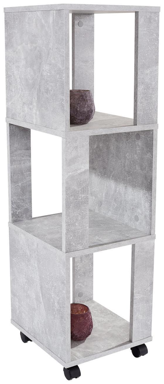 Regal Rolly 2 - Grau, MODERN, Holzwerkstoff/Kunststoff (34/111/34cm)