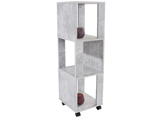 Regal Rolly 3 Ablagefächer B: 34cm Betonoptik - Grau, MODERN, Holzwerkstoff/Kunststoff (34/111/34cm)
