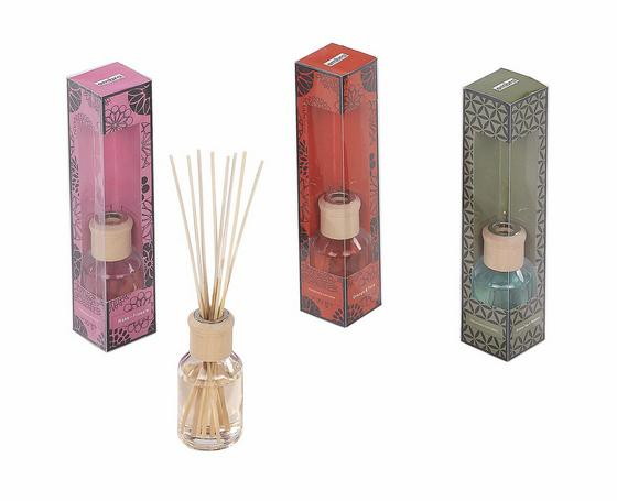 Diffuser Carly - Pink/Dunkelbraun, KONVENTIONELL (5,3/5,3/24,8cm) - Ombra