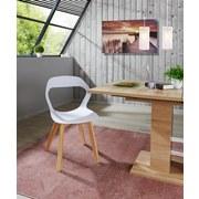 Stuhl Unit Weiß - Naturfarben/Weiß, MODERN, Holz/Kunststoff (46,5/80/53cm) - Ombra