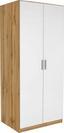 Skříň Šatní Celle, 2-türig - bílá/barvy dubu, Moderní, kompozitní dřevo (91/197/54cm)