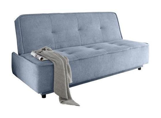 Schlafsofa Delia B: ca. 206 cm - Blau/Schwarz, MODERN, Holzwerkstoff/Textil (206/95/95cm) - Carryhome