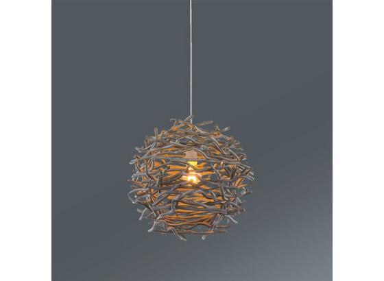 Závesná Lampa Tilda - sivá, Štýlový, umelá hmota/drevo (42/147cm) - Mömax modern living