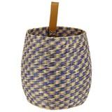 Korb Alican - Dunkelgrau/Naturfarben, Basics, Naturmaterialien/Textil (25/23cm) - Luca Bessoni