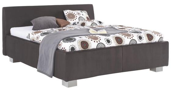 Polsterbett Zoom Comfort 180x200 Grau - Alufarben/Grau, MODERN, Textil (180/200cm)