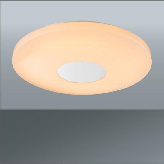 Led Stropná Lampa Betty - biela, Moderný, umelá hmota/kov (44/7cm) - Mömax modern living