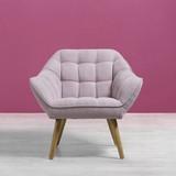 Kreslo Monique - ružová, Moderný, kov/drevo (83/76/74,5cm) - MÖMAX modern living
