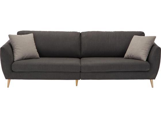Velká Pohovka Bardolino - tmavě šedá, Lifestyle, textil (260/74/47/95cm)