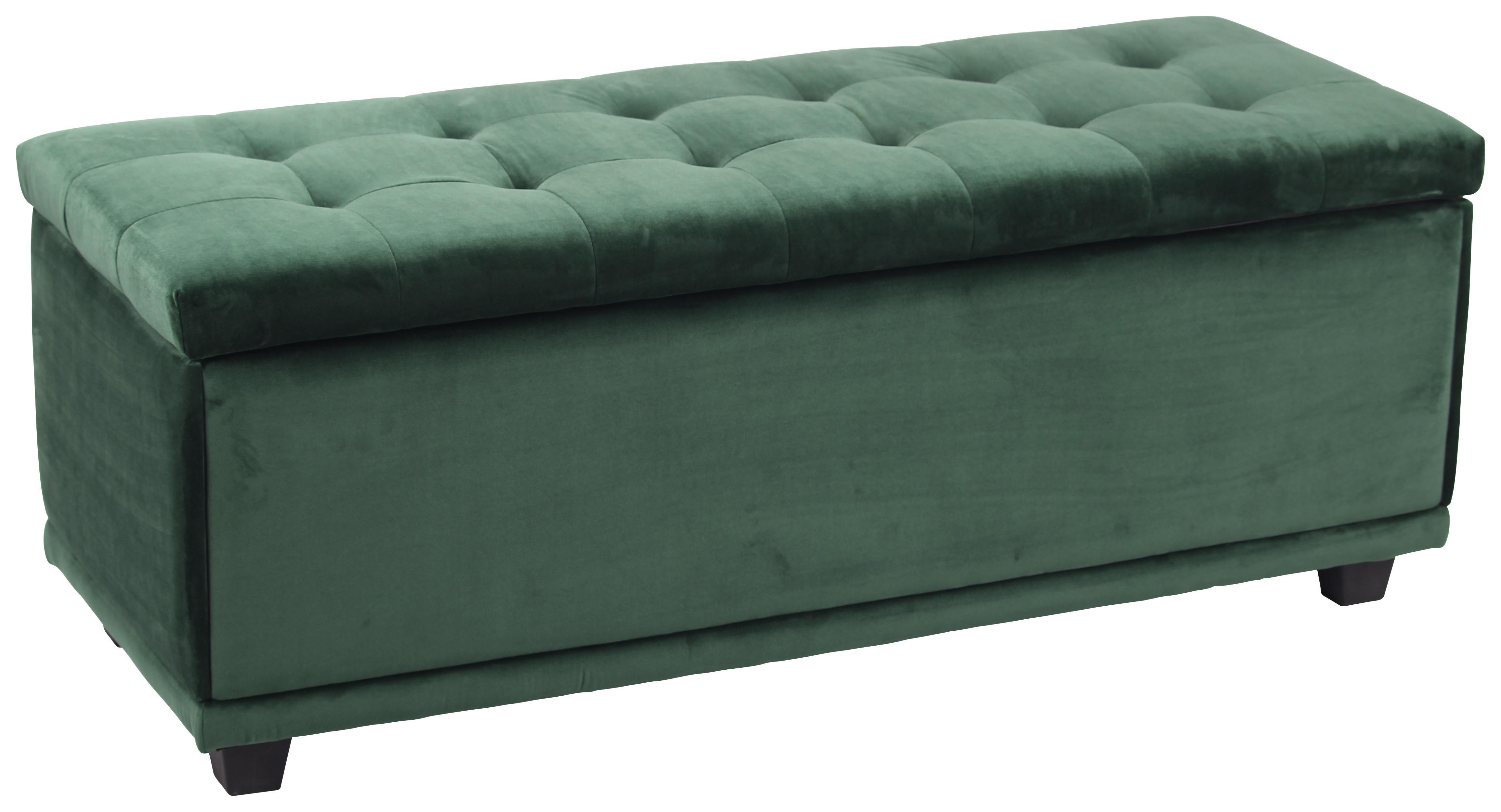 Sitzbank samt grün mit stauraum online kaufen ➤ möbelix